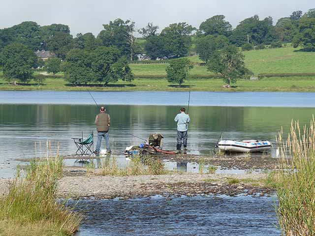 Anglers at Llangower