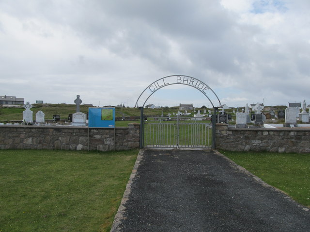 The gateway to Cill Bhride Cemetery on Criut Island