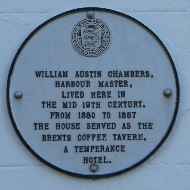 Plaque on Bridge House, Faversham