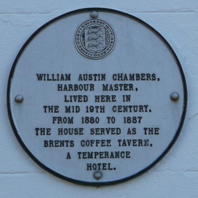 Plaque on Bridge House, Faversham