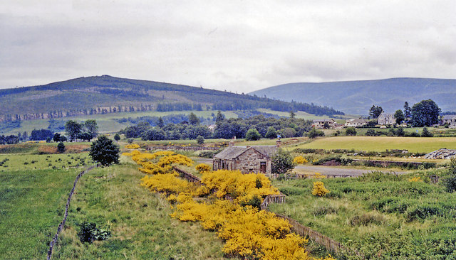 Remnants of (original) Cromdale station, 1988