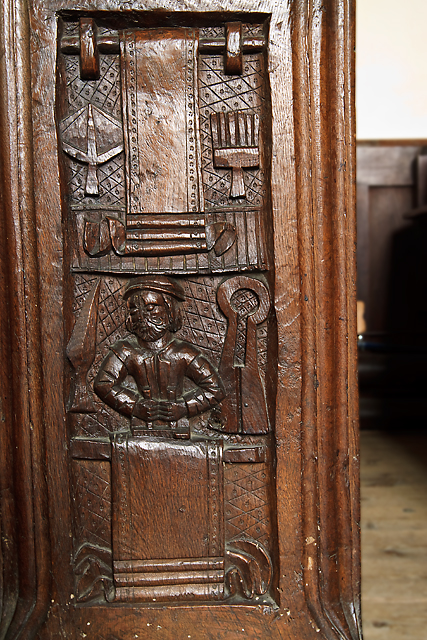 St Margaret's church, Spaxton - bench end