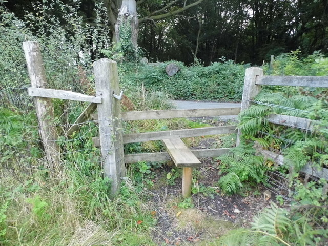 Stile from path by Charmwood Lane