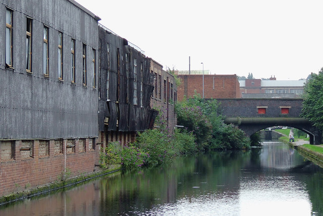 Derelict factories near Saltley, Birmingham