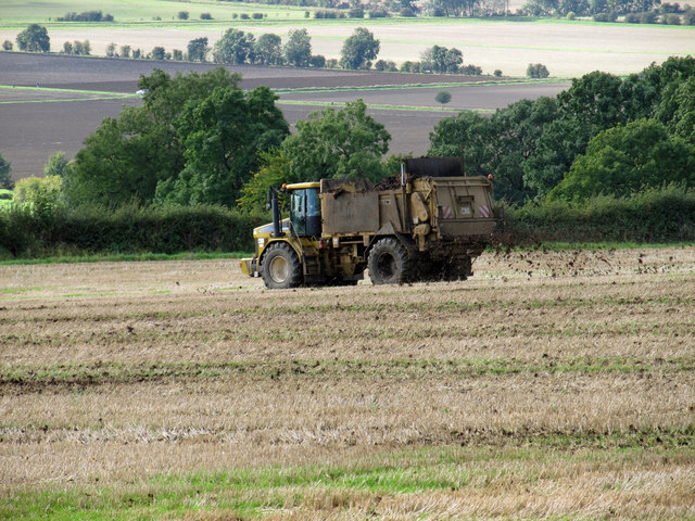 Muck Spreading near Bonby