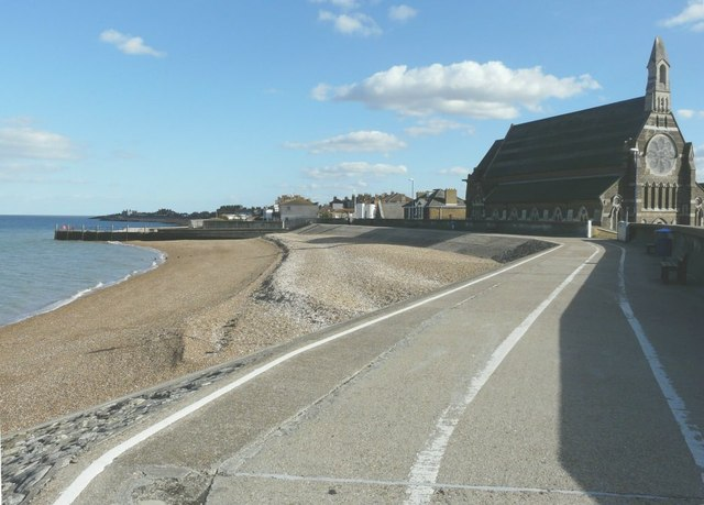 The sea-wall at Sheerness-on-Sea
