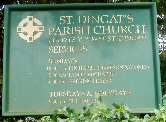 Church board, St Dingat's Parish Church, Llandovery