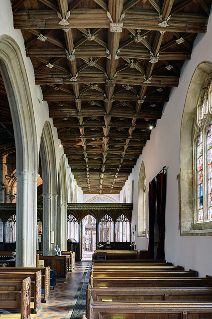 St George's church, Dunster - south aisle roof