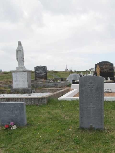 The grave of Sgt H A Tann, RAF, at Cruite Island Catholic Cemetery (Cill Bhride)