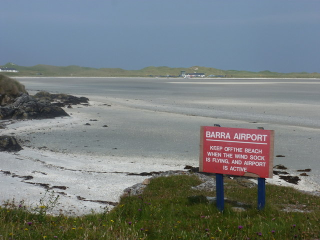Barra: keep off the beach when it is an airport!