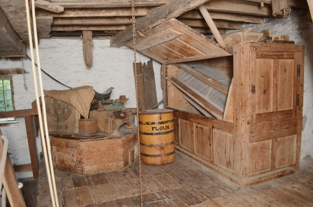 Mortimer's Cross Watermill - stone set and dresser