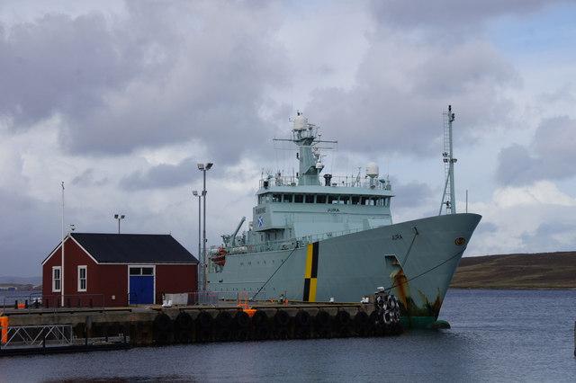 FPV Jura at Victoria Pier, Lerwick