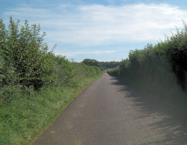 Stratton Lane south of Burcot Farm