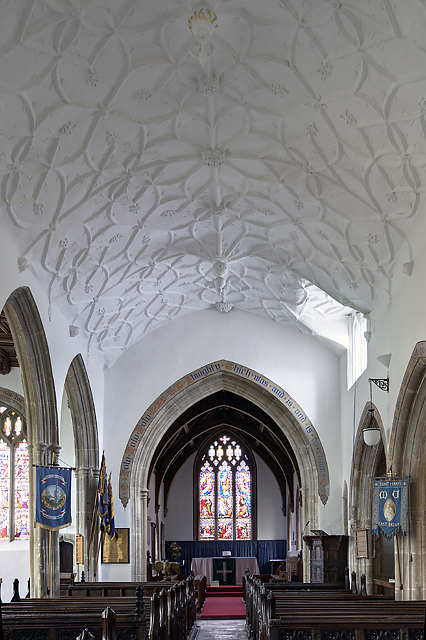 St Mary's church, East Brent  - nave ceiling