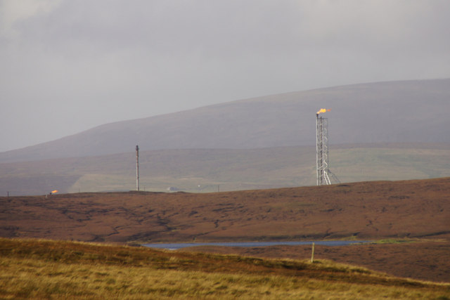Main flare stack at Sullom Voe Terminal