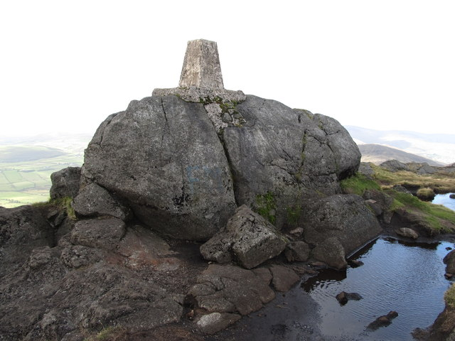 Triangulation pillar on the summit of Slieve Foye