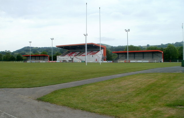 Grandstand, Church Bank Playing Fields, Llandovery