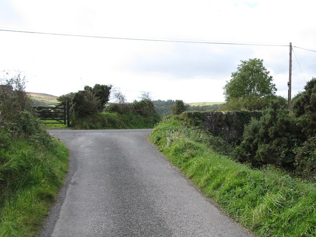 Minor road T-junction at Ballygoley
