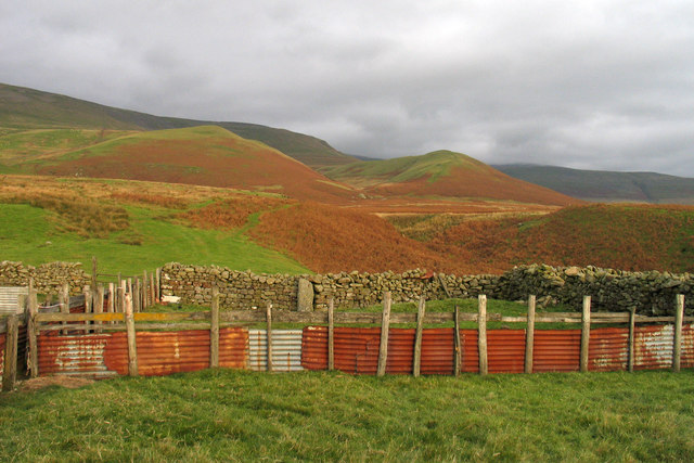 Sheep pens at foot of Littledale