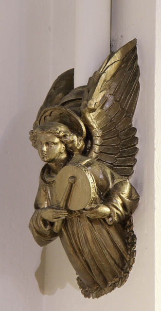 St Andrew, St Andrews Road, Romford - Angel corbel
