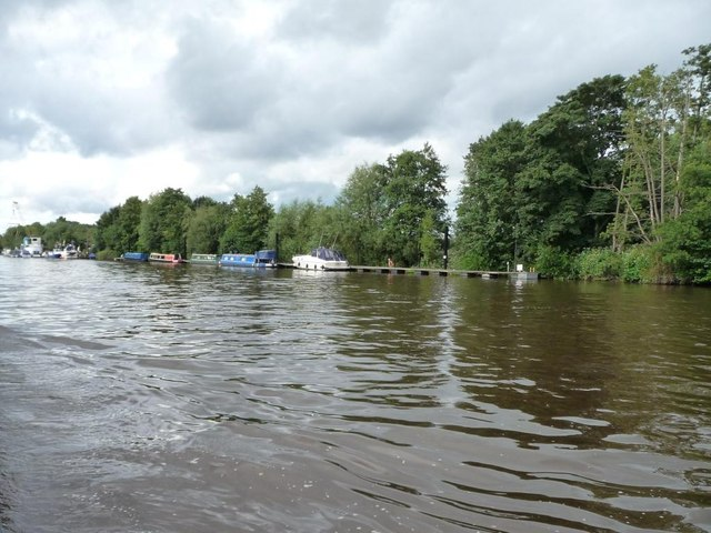 Moorings on the east bank of the Severn