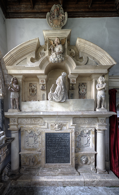 St Leonard's church, Rodney Stoke - monument to George Rodney