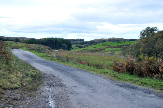 Minor road from Taynuilt to Kilmore