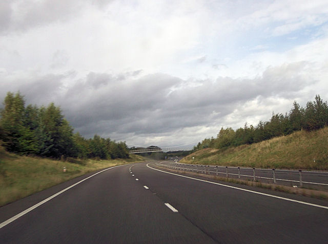 Nesscliffe by pass south of footbridge