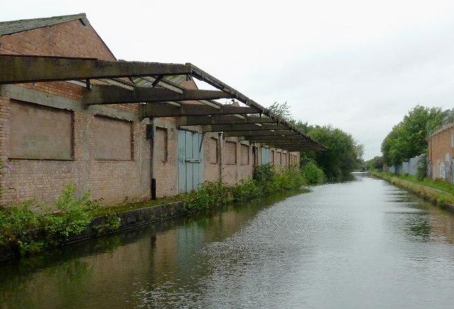 Derelict canalside factory near Tyseley, Birmingham