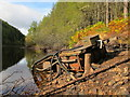 NJ0652 : Old Raft on Romach Loch by Alan Hodgson