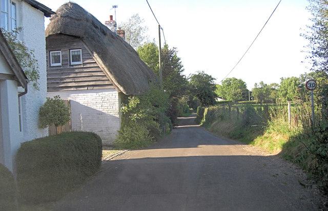 Berrywood Lane south of White's Farm