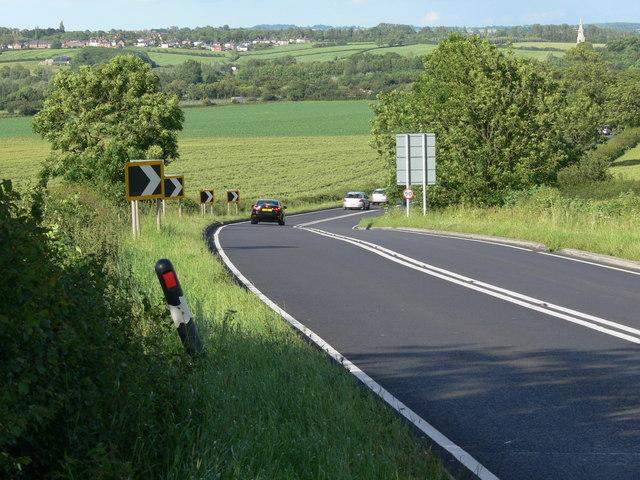 The A607 to Melton Mowbray