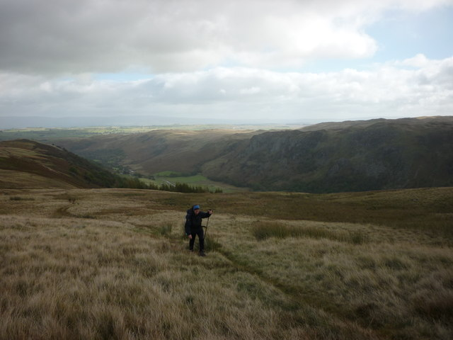 Climbing out of Swindale on the Old Corpse Road