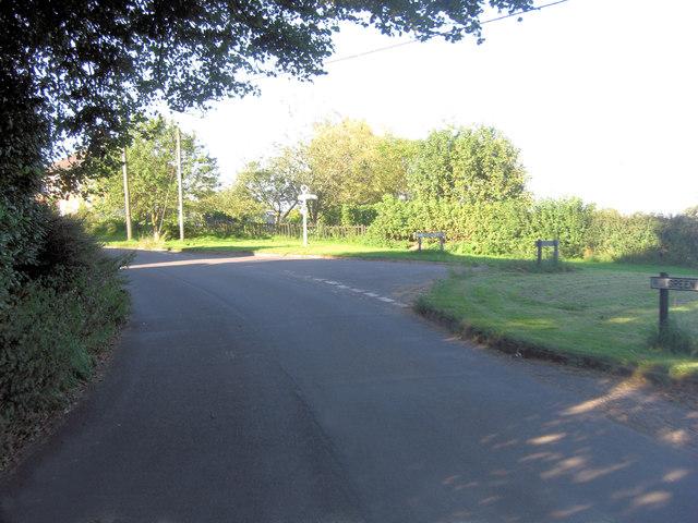 Green Lane junction with Church Lane