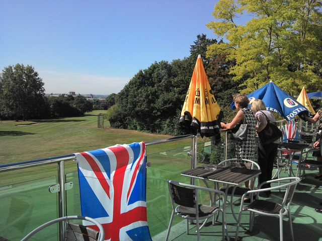 From the Clubhouse balcony - Coombe Wood Golf Club
