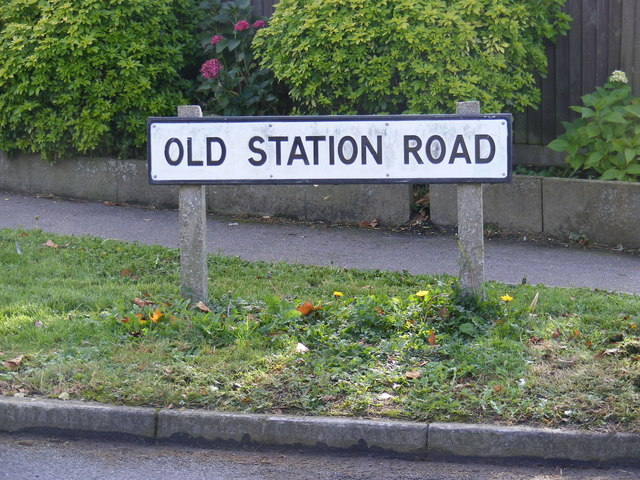 Old Station Road sign