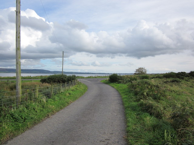 Approaching the A718 at Loch Ryan