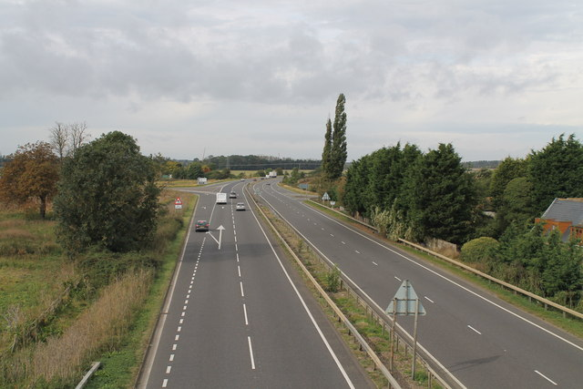 The A17 at Kirkby La Thorpe
