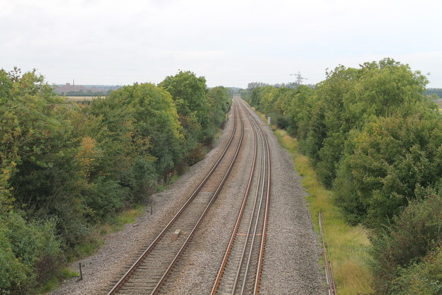 Railway lines towards Sleaford
