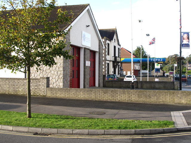 The Northern Ireland Fire and Rescue Station and the Orange Hall at Kilkeel