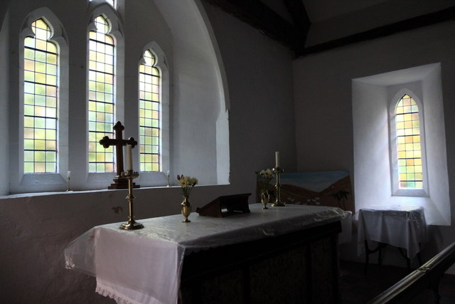 Altar, St David's Church, Cregrina, Powys
