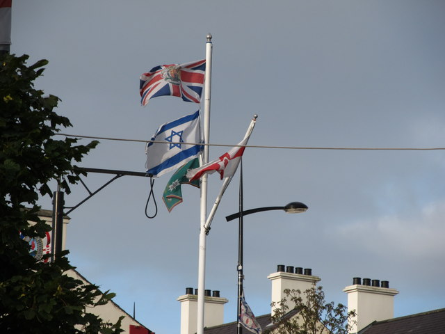 The flag pole in the Lower Square