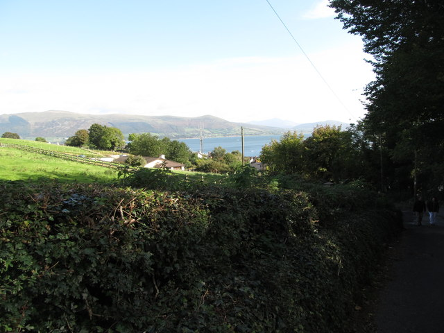 View towards Carlingford Lough from St Oliver's Park