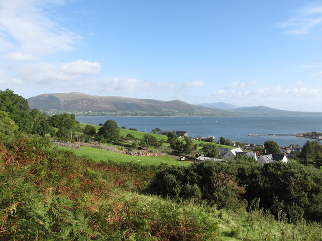 View towards Carlingford Harbour from the lower stretch of the Commons Loop Path