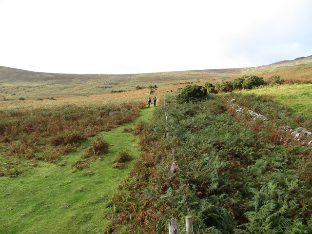 Path leading uphill towards the Tain Way track