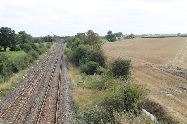 Railway lines towards Spalding