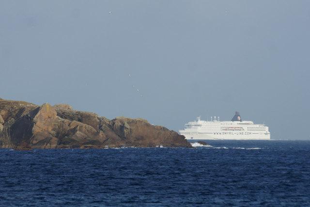 MV Norrona passing Lamba Ness