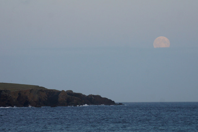 Moonrise beyond Lamba Ness