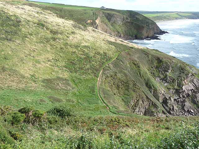 Pembrokeshire Coast Path above Cwm Bach