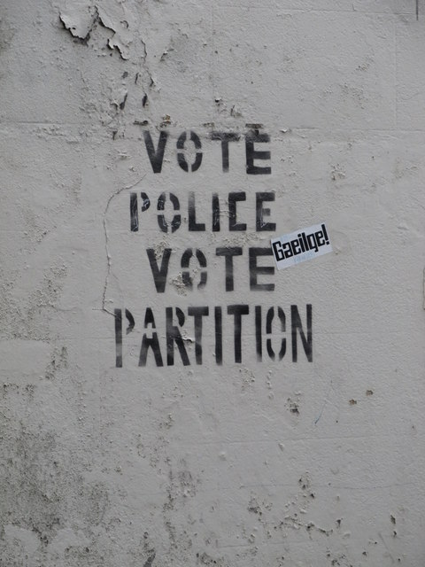 Dissident  Protest Slogan on a wall in Marcus Street